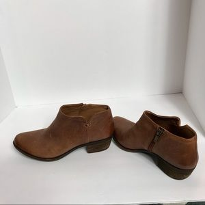 Lucky Brand brown Leather Booties